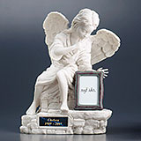 Angel Urns with Brass Nameplate