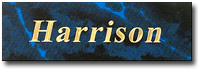 Blue Marbleized Nameplate for Pet Urns